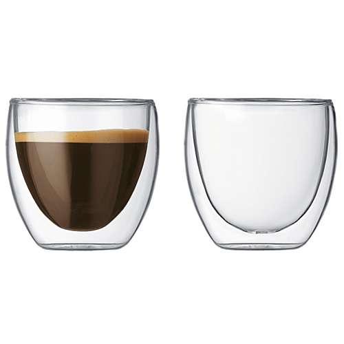 Bodum PAVINA Glas 2 Stück doppelwandig 0,08 L
