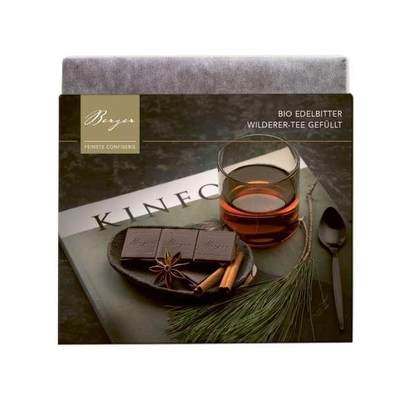 Berger Schokolade BIO Edelbitterschokolade Wilderer Tee gefüllt 100g
