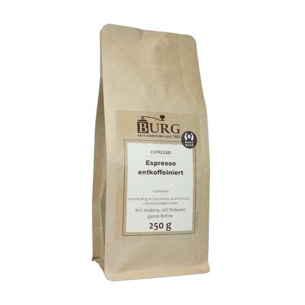 BURG Espresso hell entkoffeiniert