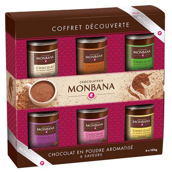 Monbana Geschenkbox Trinkschokoladen 6 Dosen 600 g